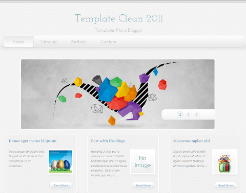Super Clean Blogger Theme