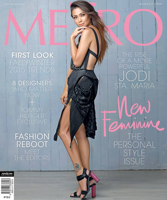 Jodi Sta. Maria Metro Magazine August 2015 Cover Girl