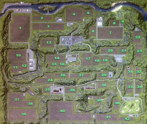 Como podemos observar o mapa possui muitos campos.