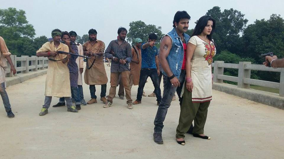Sarkar Raj Bhojpuri Movie Shooting stills, Sarkar Raj Bhandar Bhojpuri Movie