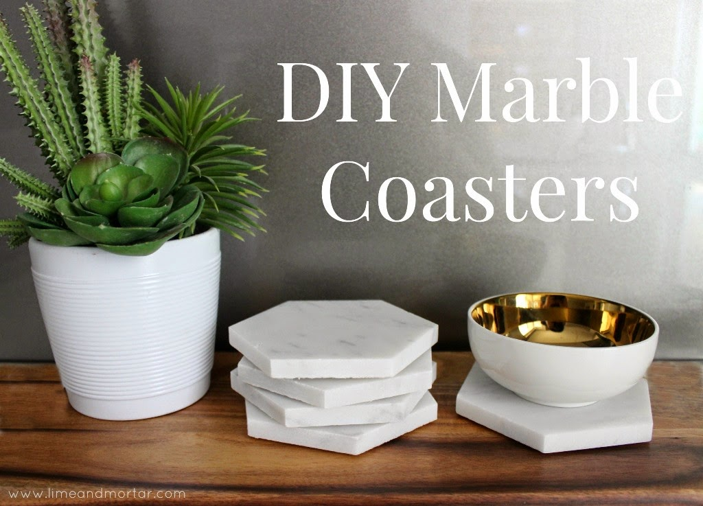 Lime Amp Mortar Diy Marble Coasters