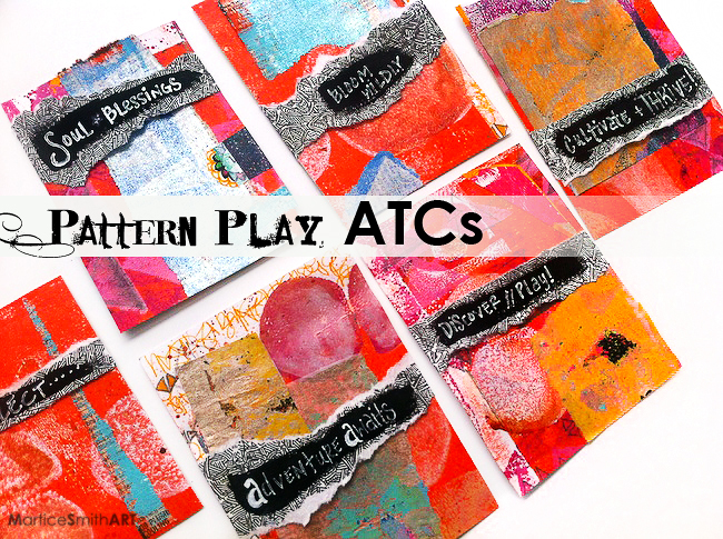 Pattern Play ATCs by Artist Martice Smith II