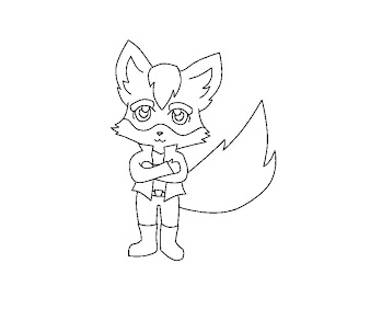 #11 Fox McCloud Coloring Page