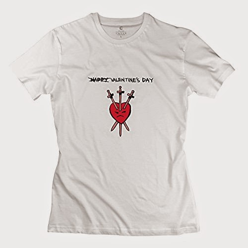 Woman Valentines Day T Shirt - Cool Custom White T Shirt