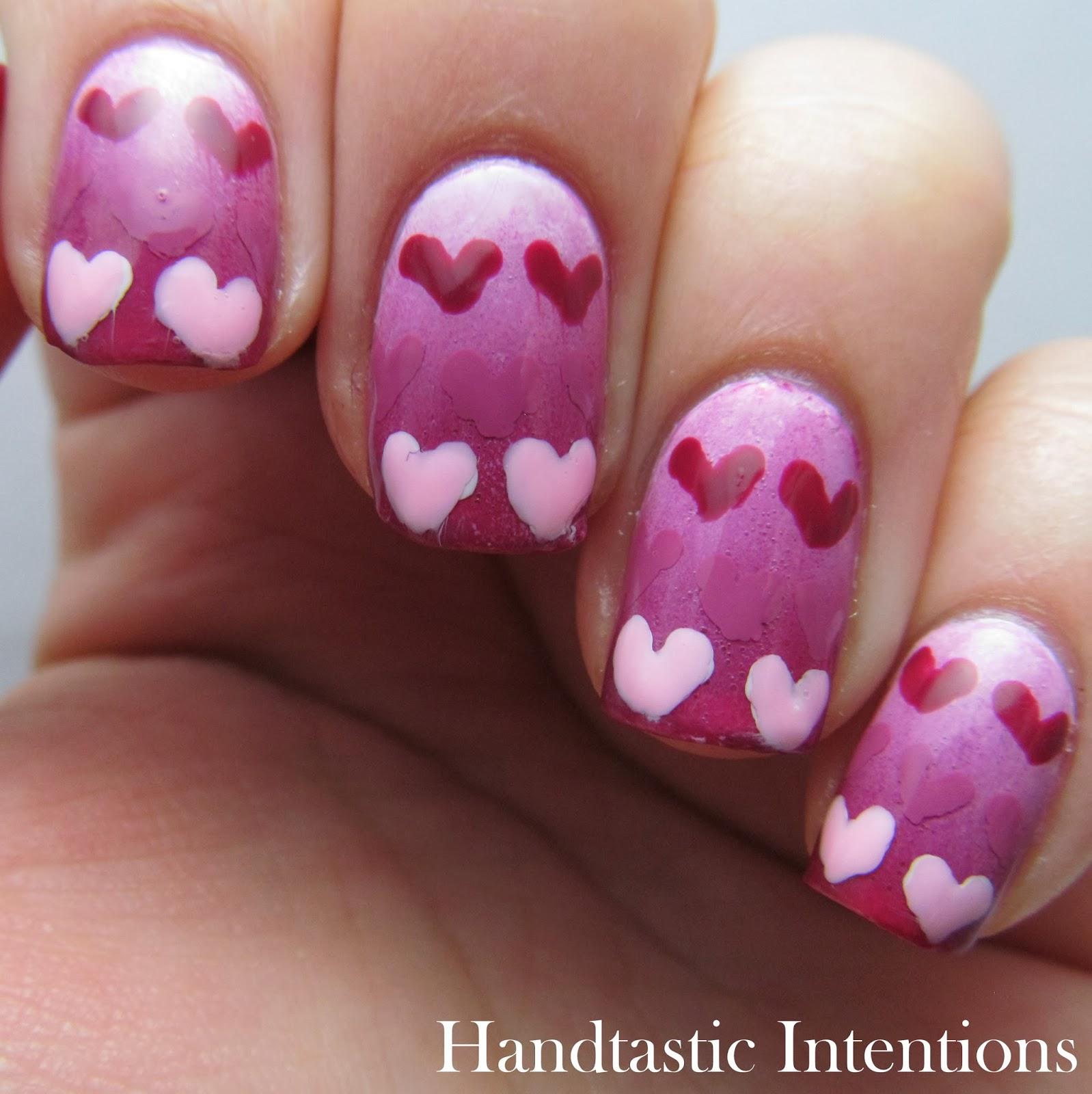 Gradient Nail Art: Handtastic Intentions: Nail Art: Gradient Hearts