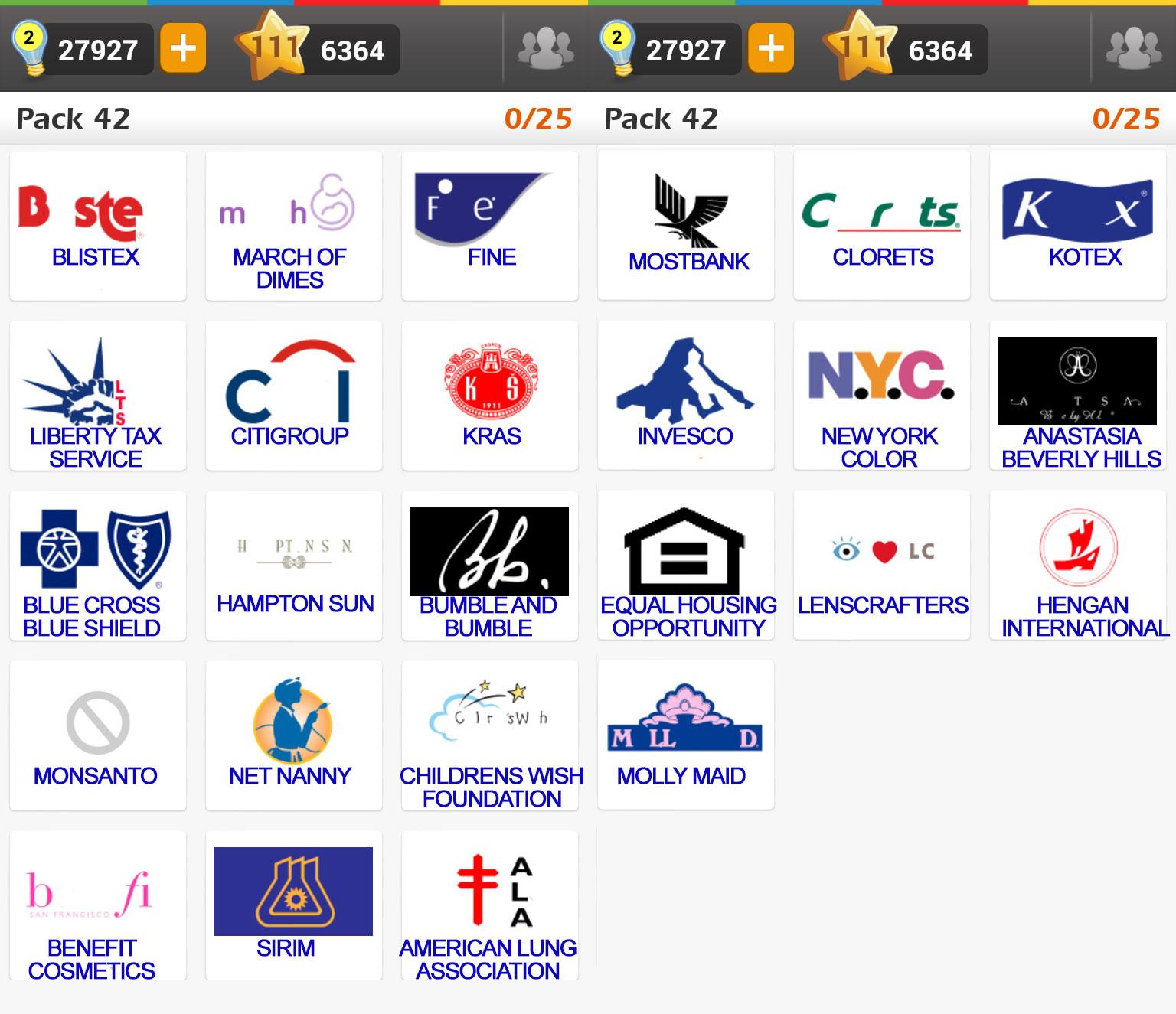 Bien connu Logo Game: Guess the Brand [Regular] Pack 42 ~ Doors Geek AF71