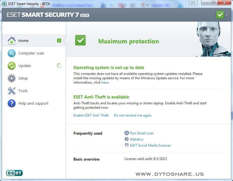 Download ESET Smart Security 7 Beta 86/64.