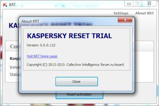 Kaspersky Trial Reset 5.0.0.112