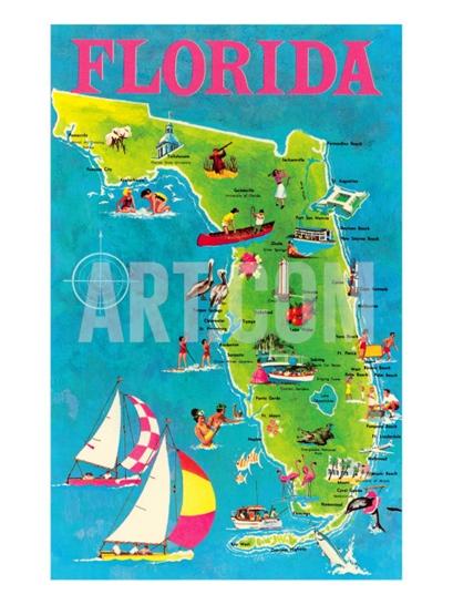 Colorful Florida Map