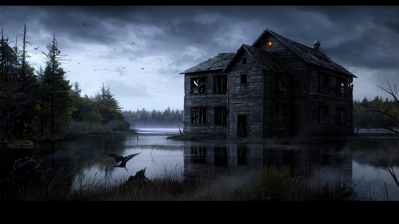 Ghost house wallpaper top desktop no 1 for Best house wallpaper