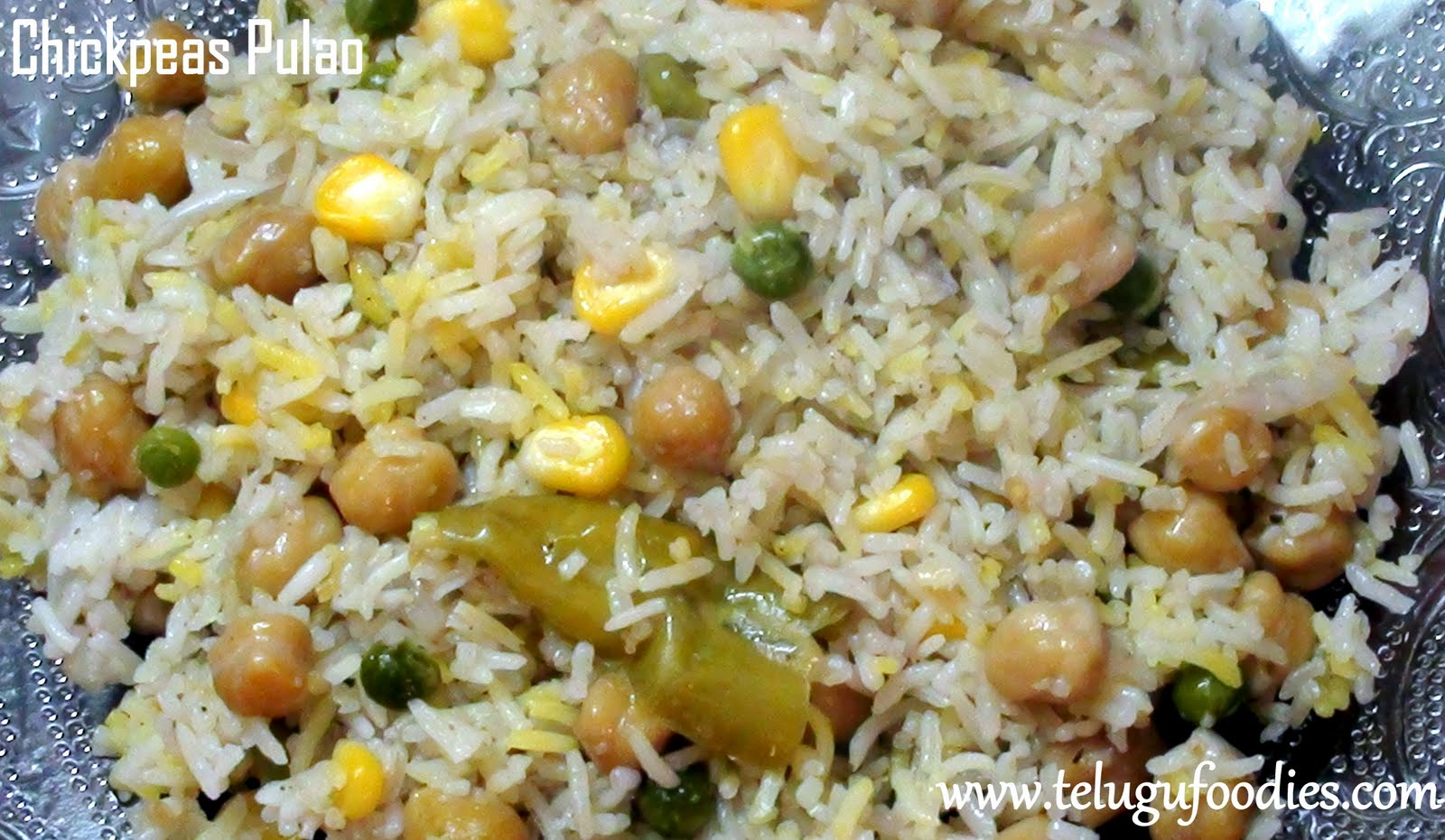 Chickpeas garbanzo beans pulao homemade telugu recipes tuesday july 12 2011 ccuart Choice Image