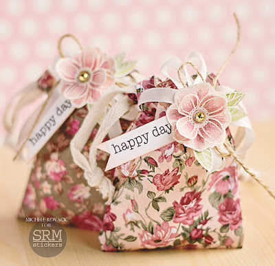 SRM Stickers Blog - Flowers, Flowers, and More Flowers! by Michele - #floralbags #fabricbags #giftbags #fancydoodles #stickers #DIY