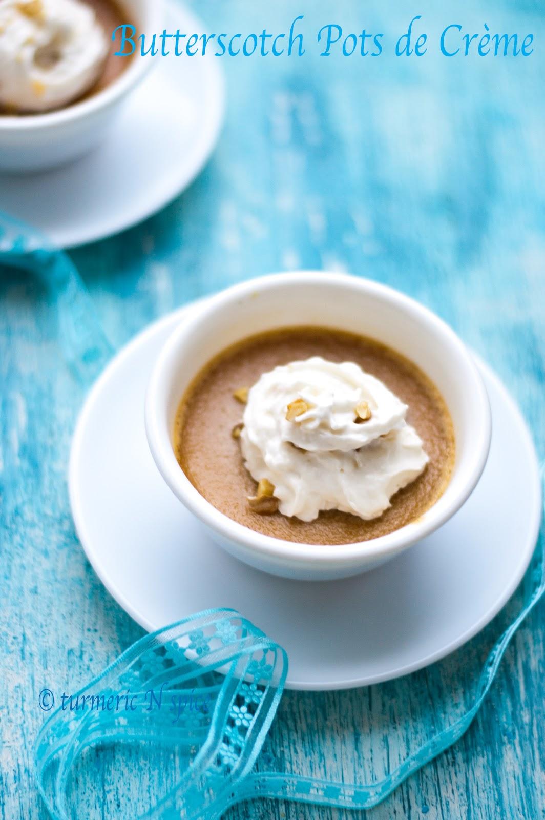 Turmeric n spice: Butterscotch Pots de Crème - Recipe Review