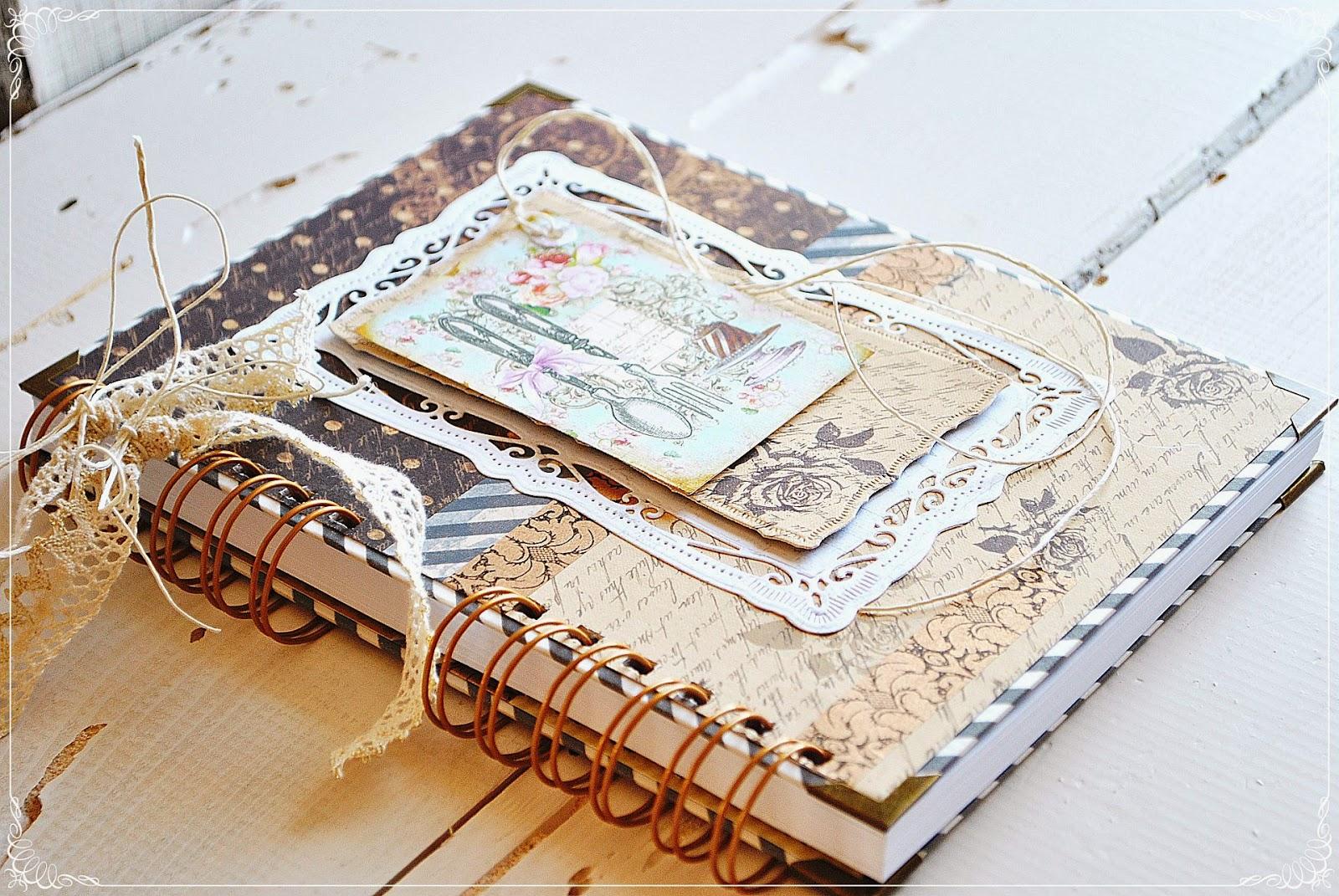 Przepiśnik vintage scrapbooking