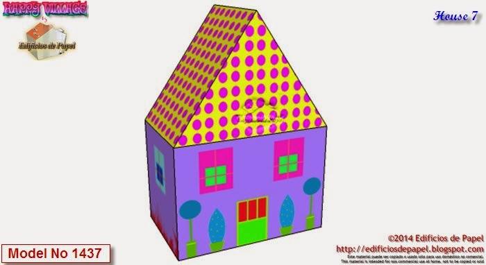 Construye tu ciudad de casitas de papel descargando gratis el fichero Happy Village
