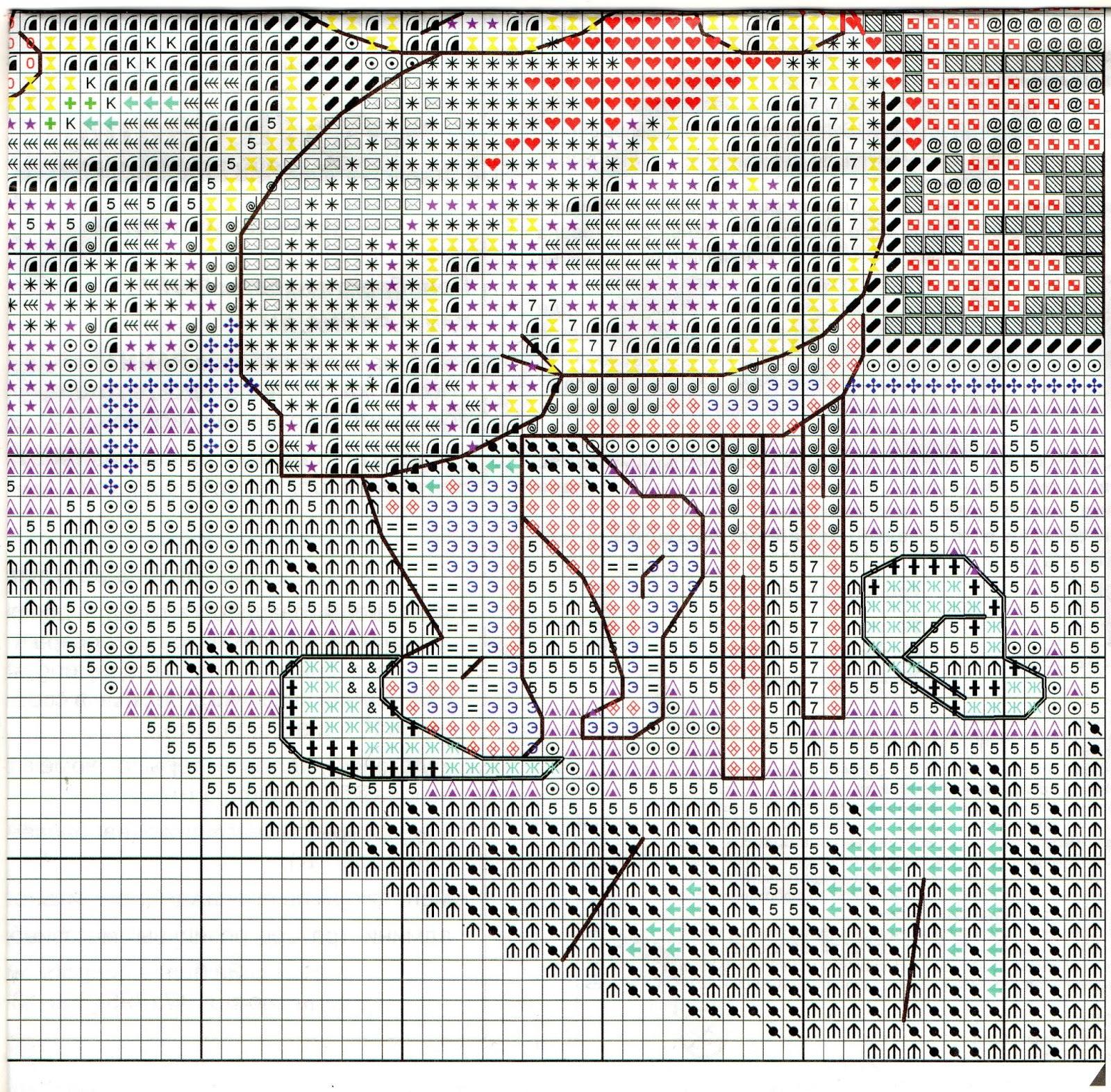 Схема вышивки домовой в семье покой 4