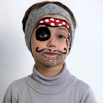 Worksheet. Como pintar caritas de pirata para hallowen  Solountipcom