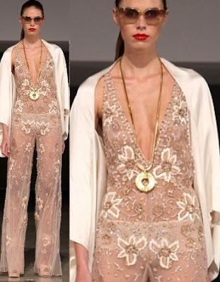 9 Weirdest Clothes at London Fashion Week: Lured of Brocade