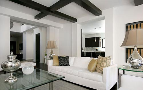 Modern Contemporary White Interior Design Livingroom