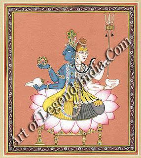 Hari-Hara: composite image of Half Vishnu and Shiva