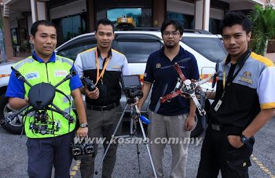 Miros, guna, Quadcopter, Kajang, Institut Penyelidikan Keselamatan Jalan Raya Malaysia, Malaysia