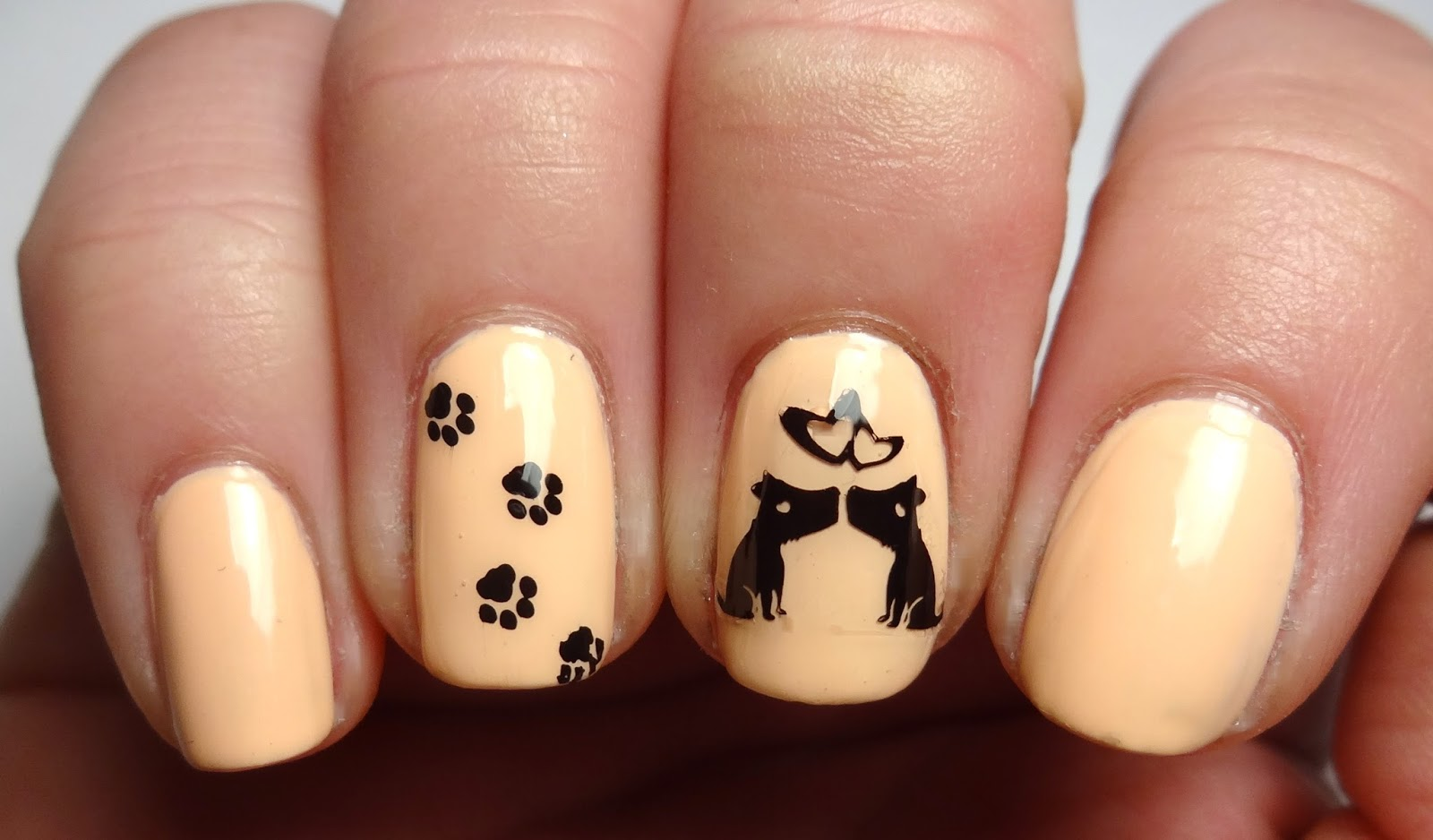 Dog Stamped Nails