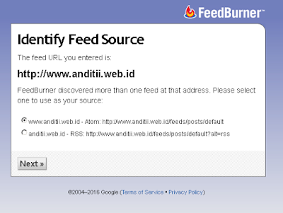 "Cara Mengatasi ""Error The URL Does Not Appear to Reference a Valid XML File"" Saat Mendaftar Feedburner"