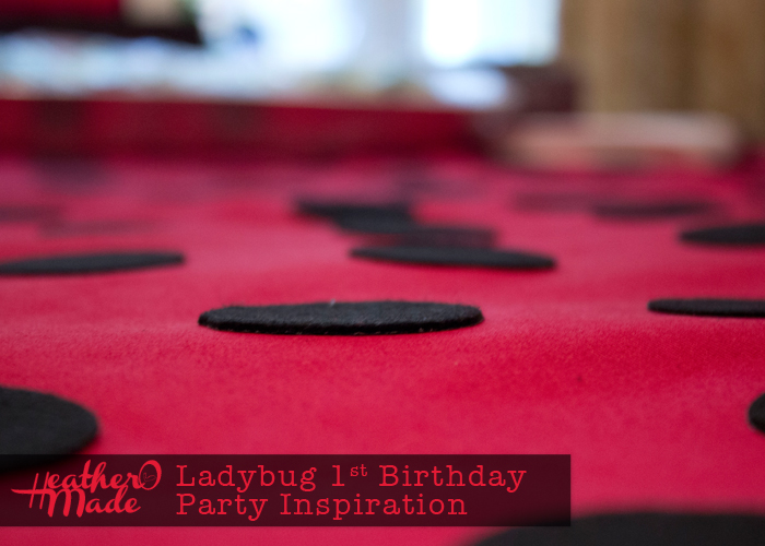 Ladybug 1st Birthday Party Inspiration. ladybug tablecloth