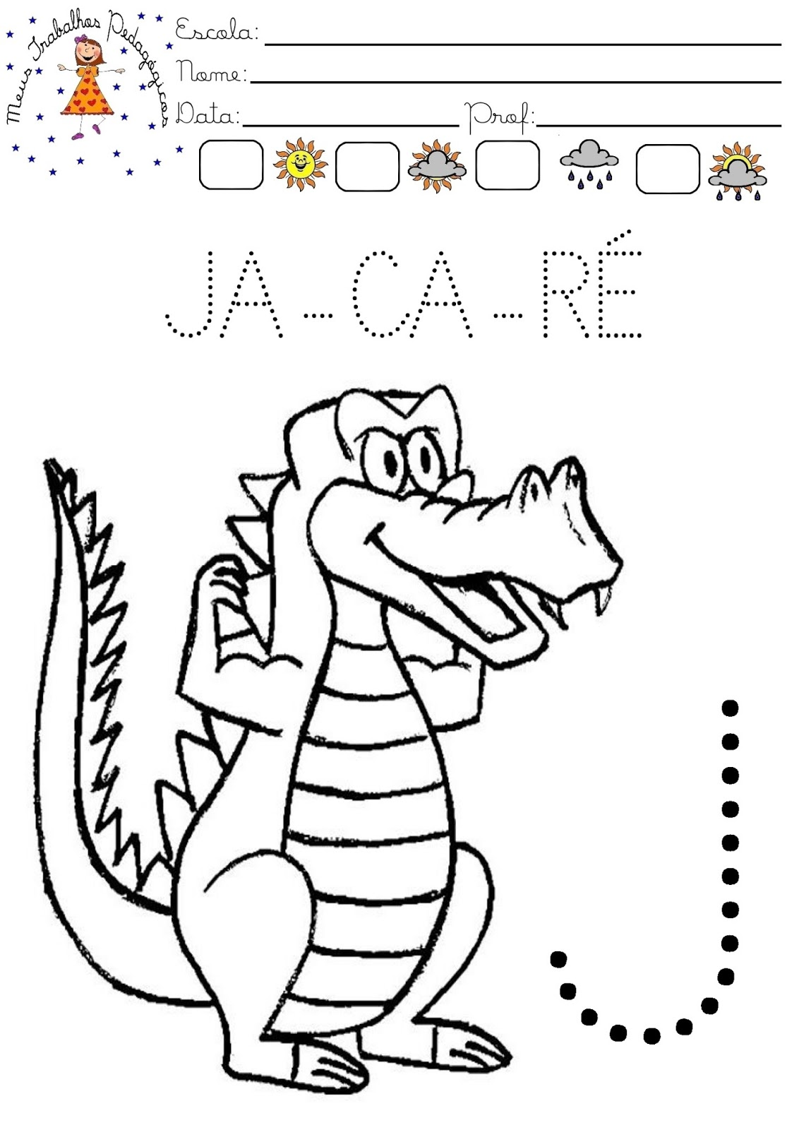 Top Meus Trabalhos Pedagógicos ®: Atividades com letra J CH37