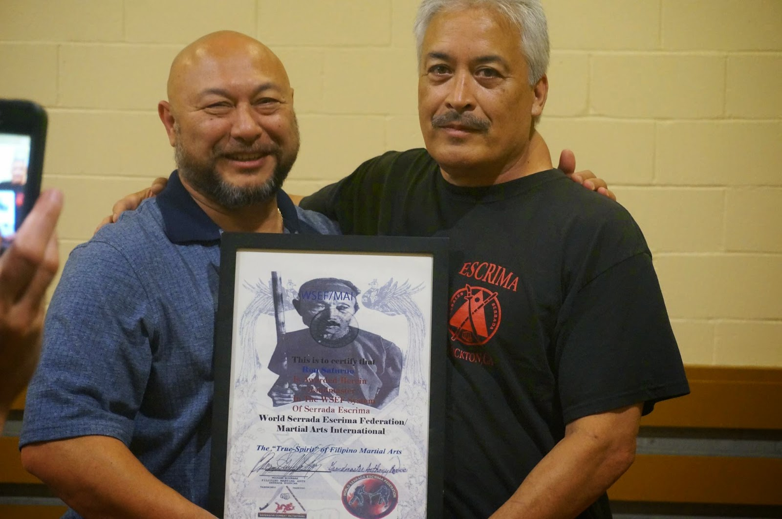 Honorary Grandmaster Award within the WSEF by GM Ron Saturno