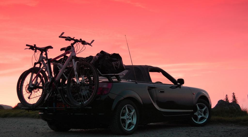 Toyota MR2 Roadster, MK3, bagażnik na tył, zewnętrzny, przewóz, podróże