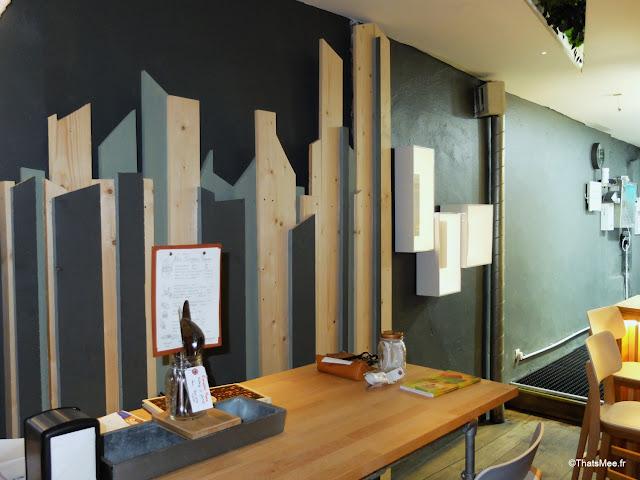 decoration scandinave restaurant bar La Faille montorgueil paris