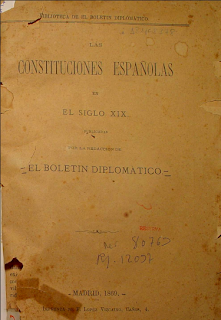 Constituciones Españolas S.XIX