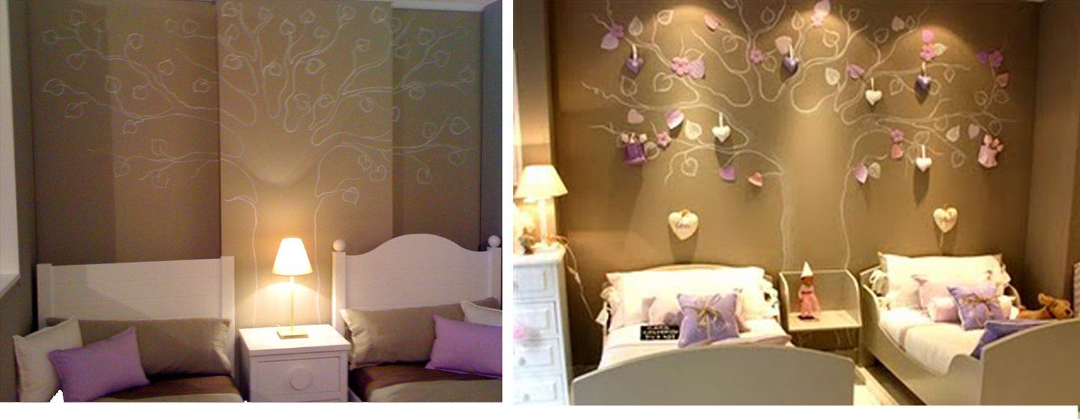 Decoracion arbol pintado en la pared - Paredes infantiles pintadas ...