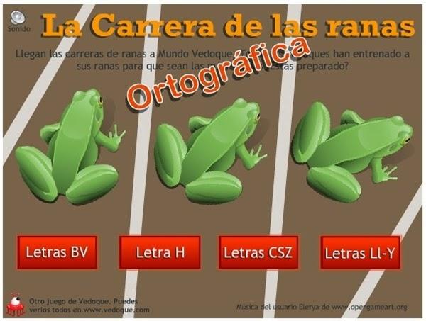 http://www.vedoque.com/juegos/juego.php?j=carrera-ranas-ortografia&l=es