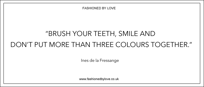 via fashioned by love | best fashion & style quotes | Ines de la Fressange