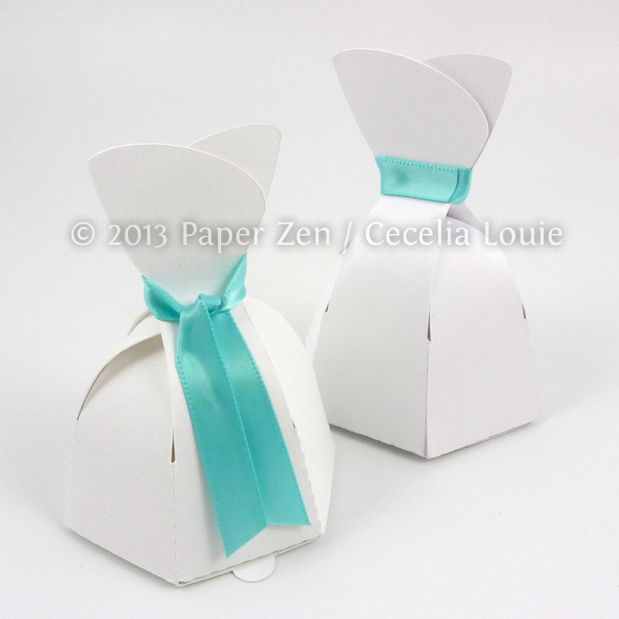 Paper Zen: Bride Dress & Groom Tuxedo Party Favor Boxes (SVG, DXF ...