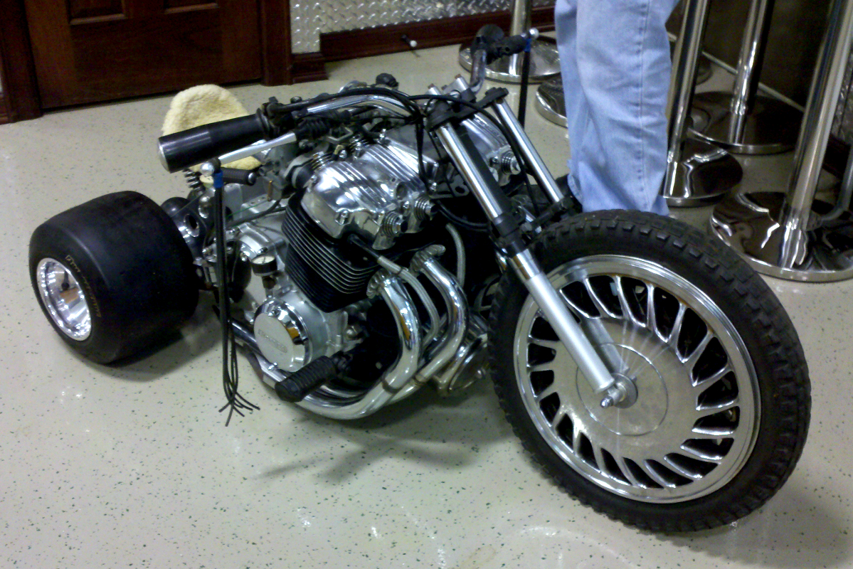 Cling On For Dear Life Cb750 Mini Trike