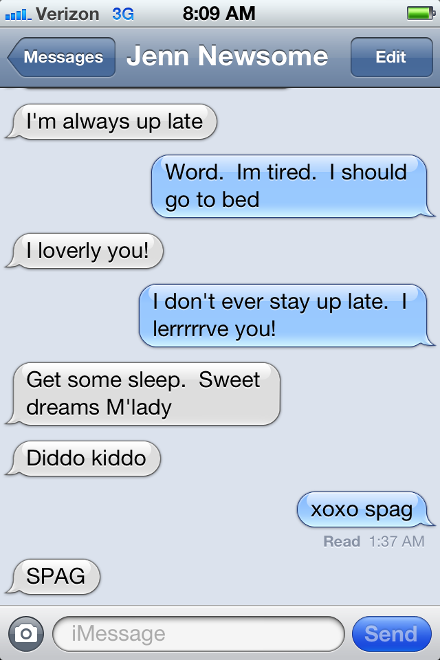 Random Ramblings: Late night love notes