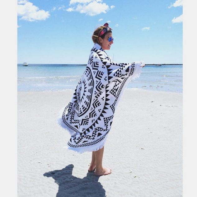 The Marfa Throw boho beach blanket