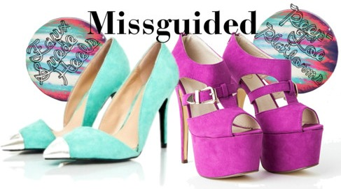 Missguided ss14 colorful pastel heels shoes