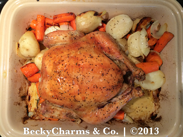 The Perfect Holiday Roasted Chicken Recipe - BeckyCharms & Co.