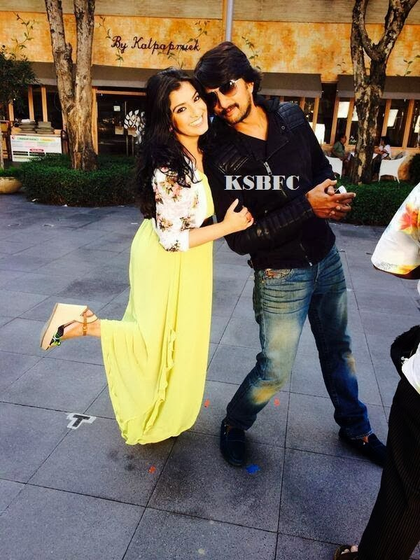 Sudeep & Varalaxmi In Bangkok for Manikya Song Shooting