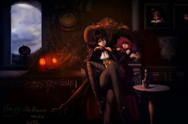 anime wallpaper,happy halloween,mahou shoujo madoka
