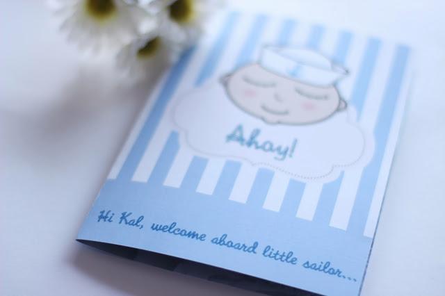 tarjeta personalizada bebe