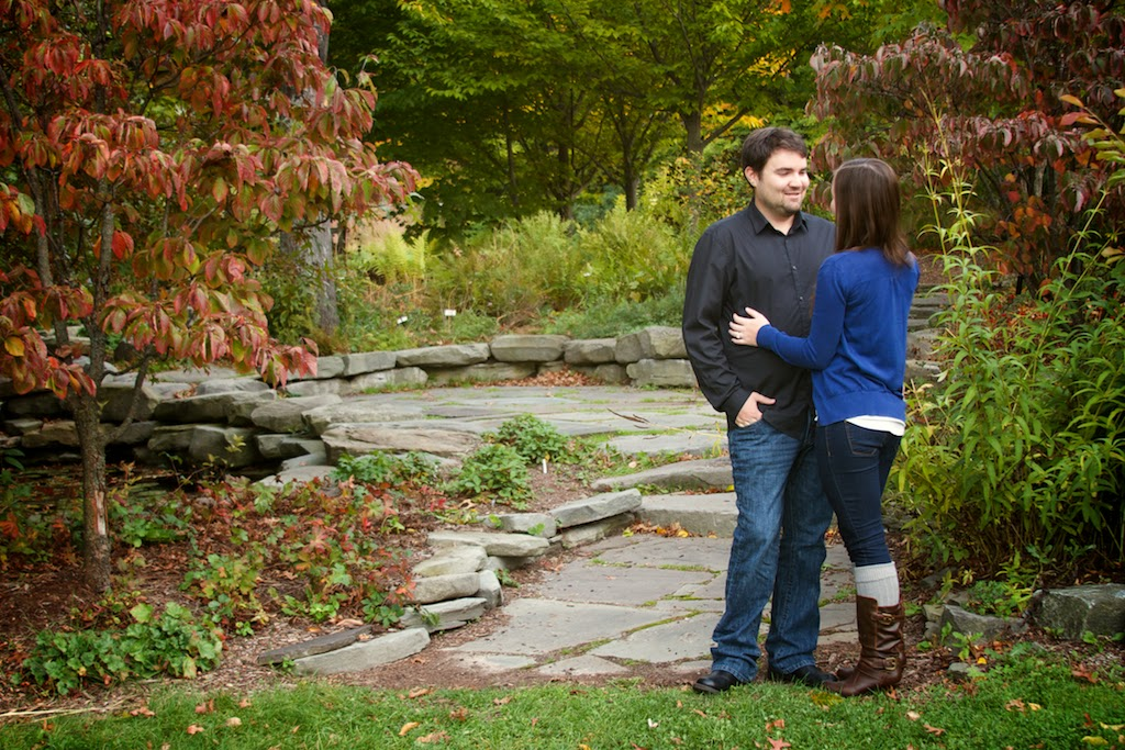 MSU Fall Garden Engagement Session, Lansing MI