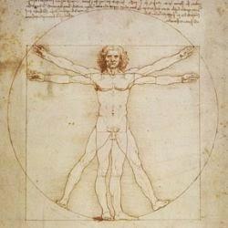 Vitruvian Man c. 1492 by Leonardo da Vinci.