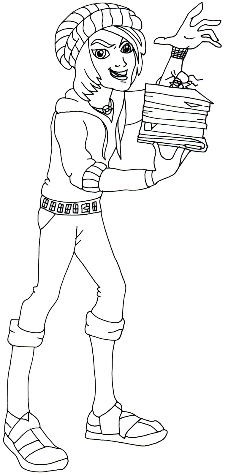 free printable monster high coloring page for invisi billy in his scaremester outfit - Scary Monster High Coloring Pages
