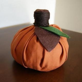Calabaza en tela, sin coser (decoracion Halloween)