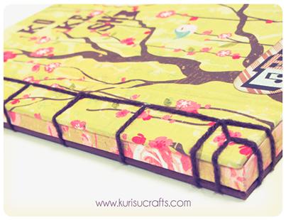 Detalle libreta encuadernación japonesa Kurisu Crafts